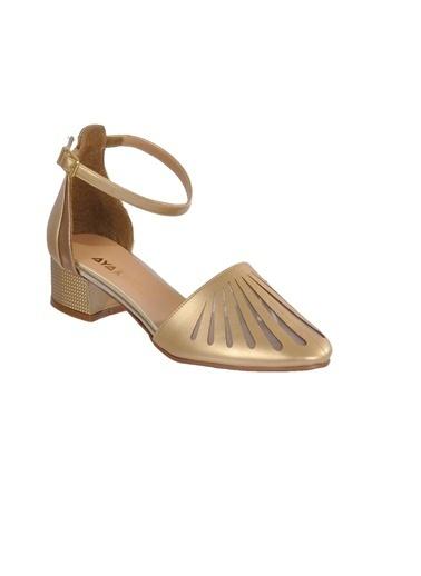 Maje 6033 Ten Kadın Topuklu Ayakkabı Altın